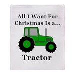 Christmas Tractor Throw Blanket
