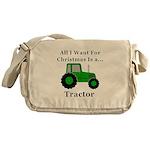 Christmas Tractor Messenger Bag