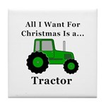 Christmas Tractor Tile Coaster