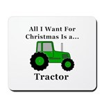 Christmas Tractor Mousepad