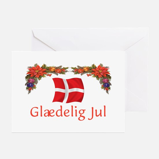 Danish Glaedelig Jul 2 Greeting Cards