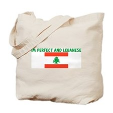 IM PERFECT AND LEBANESE Tote Bag