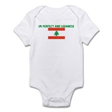 IM PERFECT AND LEBANESE Infant Bodysuit