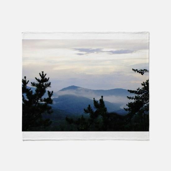 Smoky Mountain Morning Throw Blanket