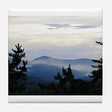 Smoky Mountain Morning Tile Coaster