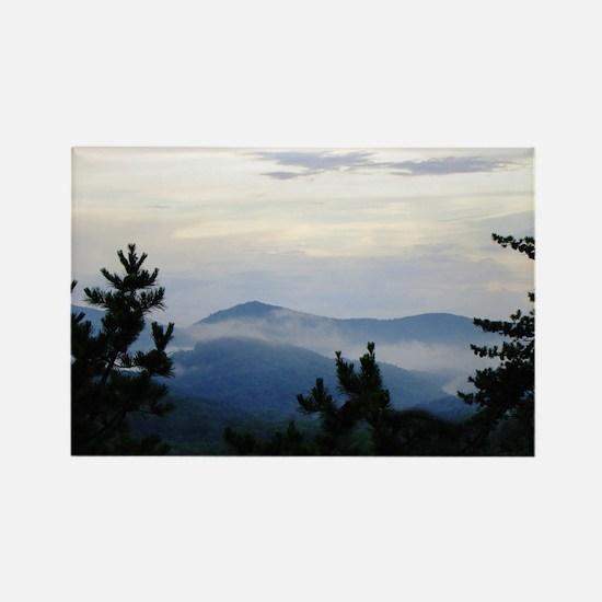 Smoky Mountain Morning Rectangle Magnet