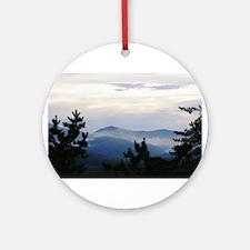 Smoky Mountain Morning Round Ornament