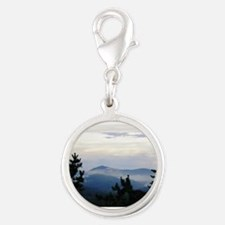 Smoky Mountain Morning Silver Round Charm