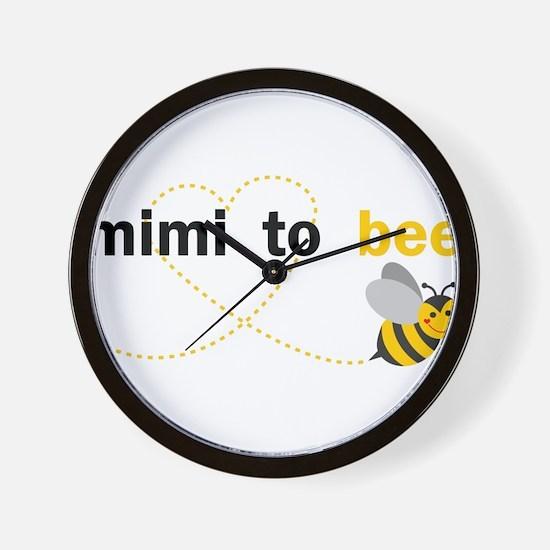 Mimi To Bee Wall Clock