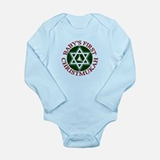 BABY'S FIRST CHRISTMUKAH SHIR Body Suit
