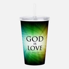 God is Love Acrylic Double-wall Tumbler