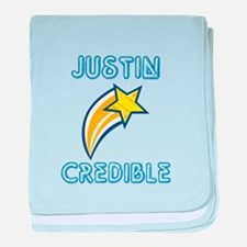 Justin Credible baby blanket