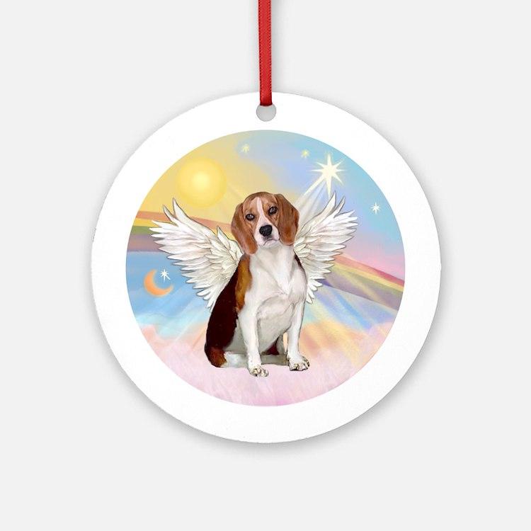 Beagle #4 Angel In Heaven-Round Ornament