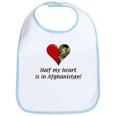 Half my heart is in Afghanistan Bib