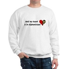 Half my heart is in Afghanistan Sweatshirt
