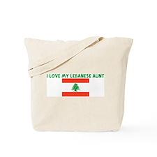 I LOVE MY LEBANESE AUNT Tote Bag