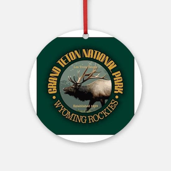 Grand Teton NP (elk) Ornament (Round)