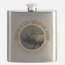 Grand Teton NP (elk) Flask