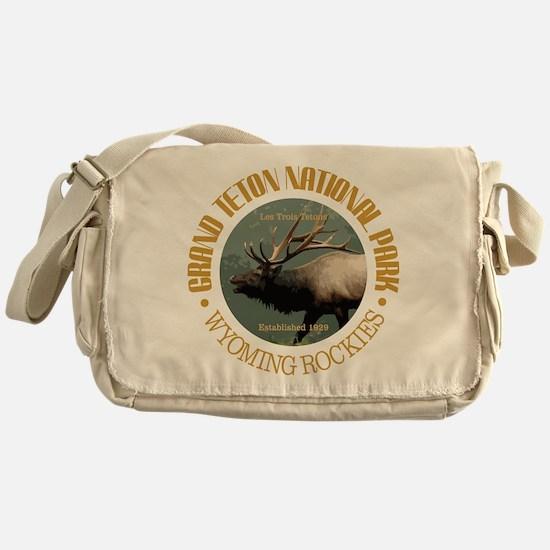 Grand Teton NP (elk) Messenger Bag