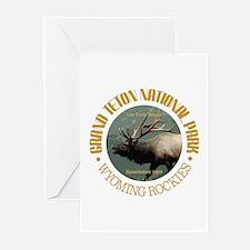 Grand Teton NP (elk) Greeting Cards