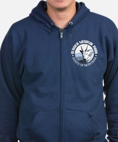 Glacier National Park (goat) Zip Hoody