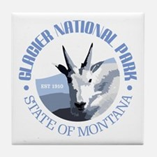 Glacier National Park (goat) Tile Coaster