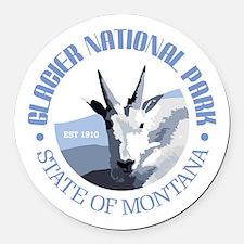 Glacier National Park (goat) Round Car Magnet