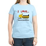 I Love Snowmobiles Women's Light T-Shirt