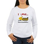 I Love Snowmobiles Women's Long Sleeve T-Shirt