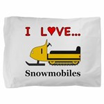 I Love Snowmobiles Pillow Sham