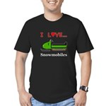 I Love Snowmobiles Men's Fitted T-Shirt (dark)