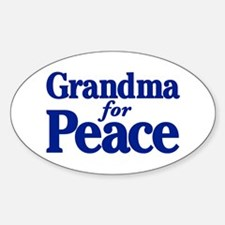 Grandma for Peace Oval Decal