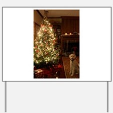 Christmas dog Yard Sign