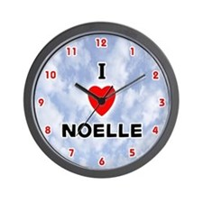 I Love Noelle (Red/Blk) Valentine Wall Clock
