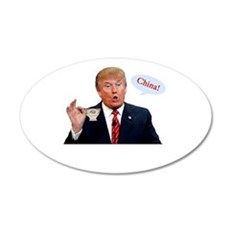 Donald Trump China Funny Wall Decal