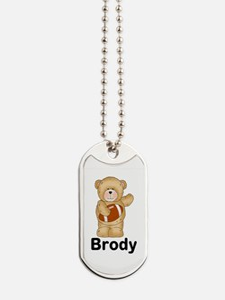Brody's Football Bear Dog Tags