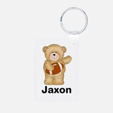 Jaxon's Football Bear Aluminum Photo Keychain