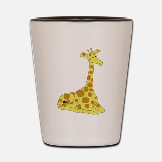 Sitting Giraffe Shot Glass