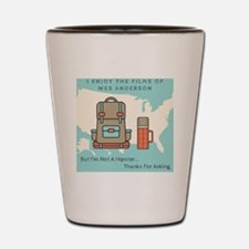 Funny Hipster Shot Glass