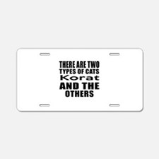 There Are Two Types Of Kora Aluminum License Plate