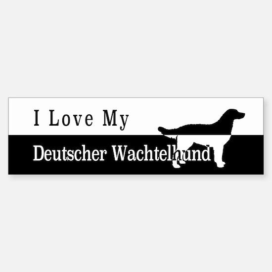 Deutscher Wachtelhund Bumper Bumper Bumper Sticker