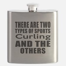 There Are Two Types Of Sports Curling Design Flask