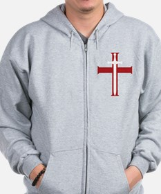 SwordCross_8x10_ctext Sweatshirt