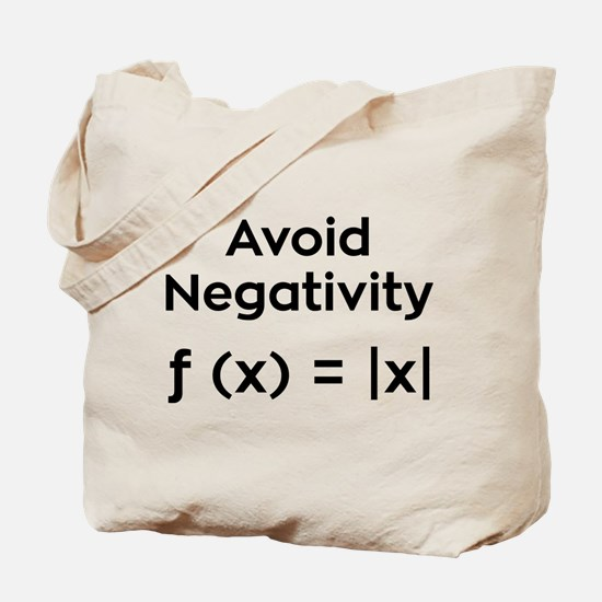 Avoid Negativity Tote Bag