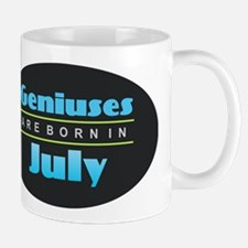 Geniuses are Born In July Mugs