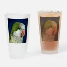 Cute Quaker parrots Drinking Glass