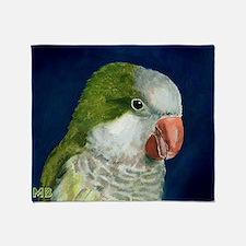 Cute Quaker parakeet Throw Blanket