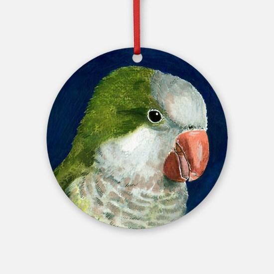 Cute Quaker parrot Round Ornament