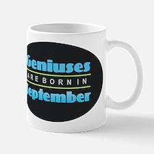 Geniuses are Born In September Mugs