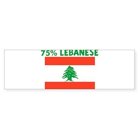 75 PERCENT LEBANESE Bumper Sticker